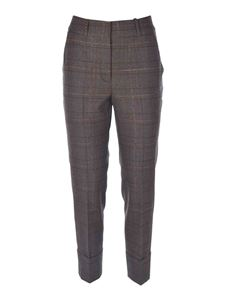 Peserico - Checked pants in brown