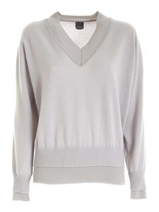 Lorena Antoniazzi - Cashmere lamé pullover in pearl grey