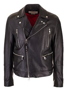 Alexander McQueen - Leather biker jacket in black