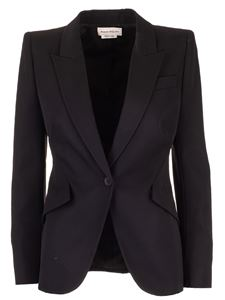 Alexander McQueen - Wool blazer in black