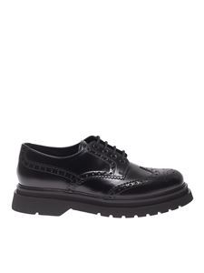 Prada - Brogue derby shoes in black