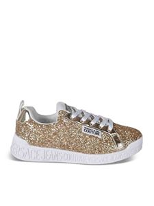 Versace Jeans Couture - Glitter sneakers in golden color