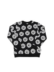 GCDS - All-over logo sweatshirt in black