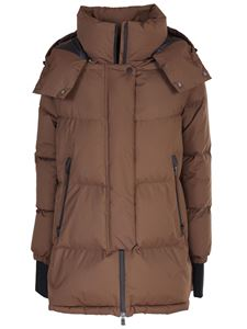 Herno - Oversized down jacket in Tobacco color