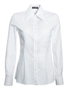 Dolce & Gabbana - Maxi collar shirt in white
