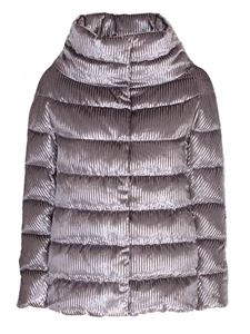 Herno - Short down jacket with high collar in grey