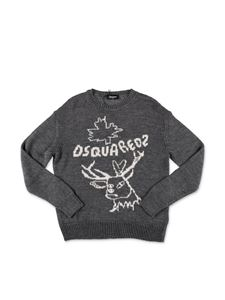 Dsquared2 - Gray sweater with logo inlay