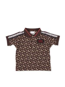 Burberry - Mini Archie brown polo shirt
