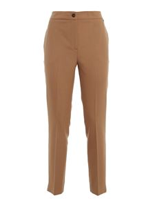 Twin-Set - Twill pants in camel colour
