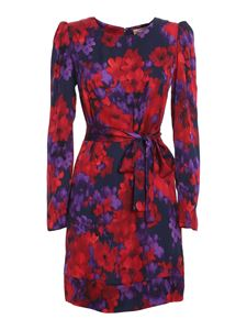 Twin-Set - Chiné floral printed dress in red