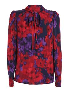 Twin-Set - Chiné floral printed blouse in red