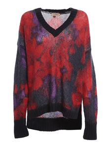 Twin-Set - Floral patterned sweater in red