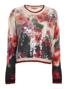 Twin-Set - Embellished floral patterned sweater in multicolor