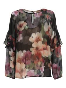 Twin-Set - Chiné floral printed blouse in muticolor