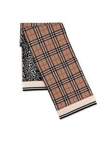 Burberry - Vintage Check and animal print scarf