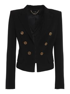 Elisabetta Franchi - Crêpe cropped jacket in black