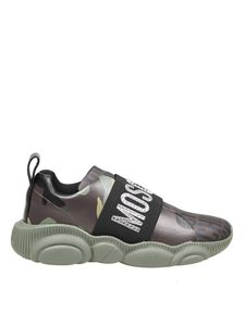 Moschino - Teddy Lost Found sneakers in brown