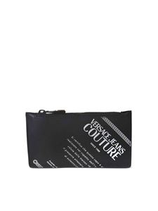 Versace Jeans Couture - Lettering logo cards holder in black