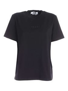 MSGM - Embossed logo t-shirt in black