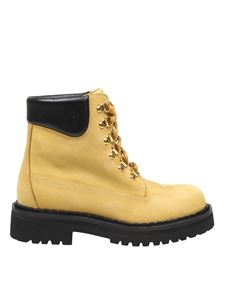 Moschino - Combat boots in natural color
