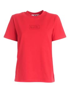 MSGM - Embossed logo t-shirt in red