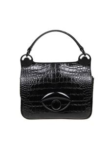 Kenzo - Crocodile print bag in black
