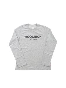 Woolrich - Branded long sleeves T-shirt in grey