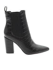 Steve Madden - Subtle crocodile print ankle boots in black