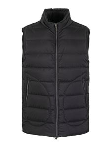 Herno - Quilted nylon padded gilet in blue