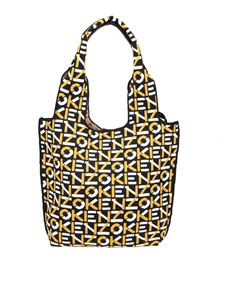 Kenzo - Monogram Small Tote bag in black and yellow