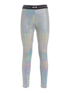 MSGM - Logo band pants in silver