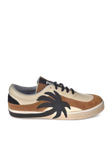 Palm Angels - Vulc Palm sneakers in beige brown and black