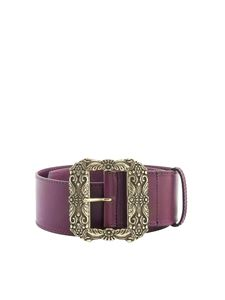 Etro - Chiselled buckled belt in red