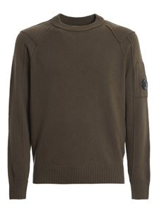 CP Company - Wool blend crewneck sweater in green