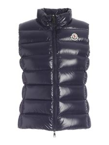 Moncler - Sleeveless down jacket in blue