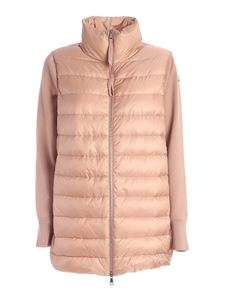 Moncler - Cardigan tricot lungo rosa