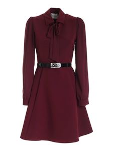 be Blumarine - Branded band dress in wine color