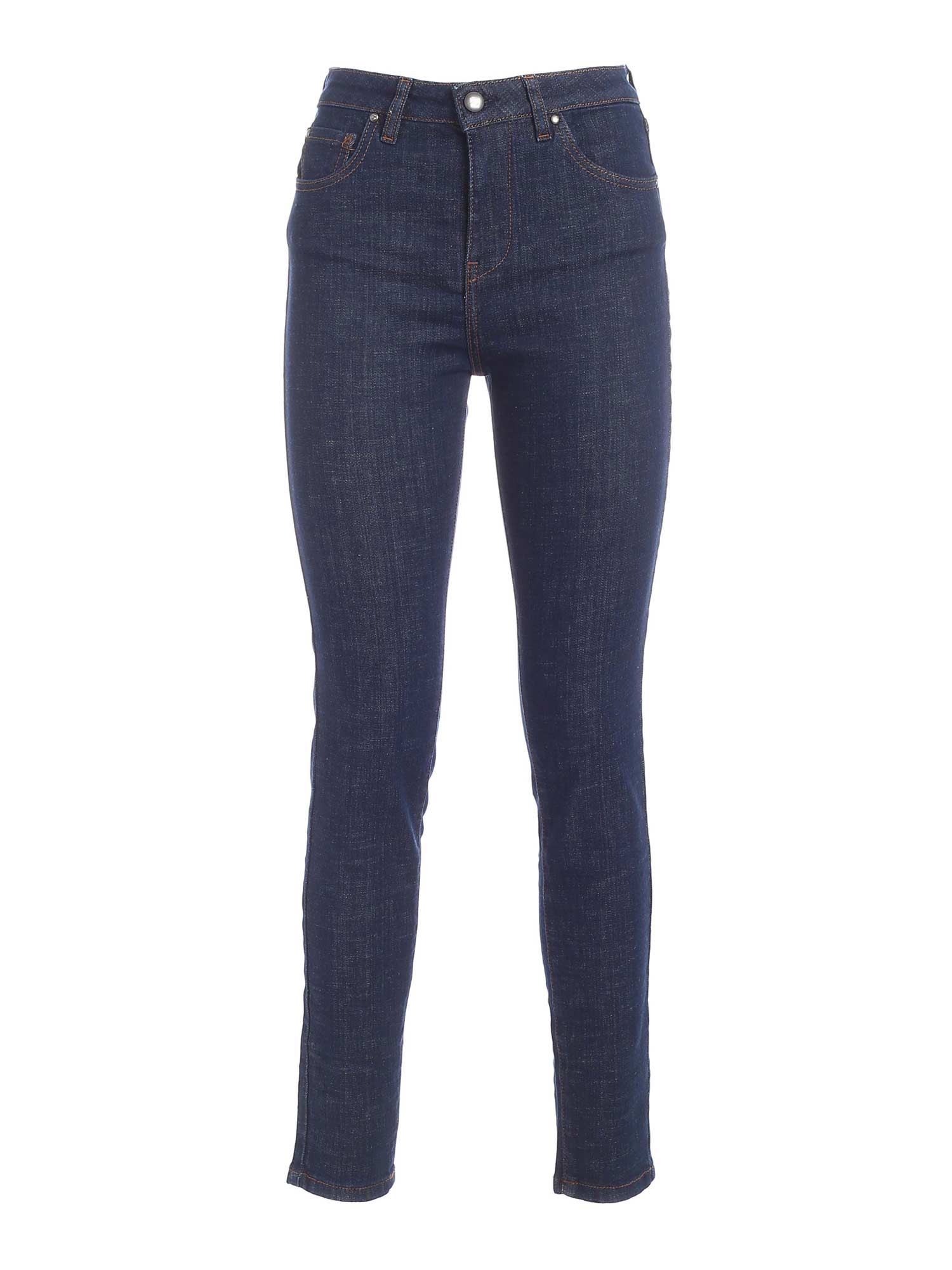 Fay Cottons LOGO JEANS IN BLUE