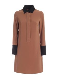 Paolo Fiorillo - Shirt dress in black and camel color