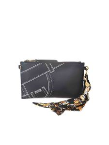 Versace Jeans Couture - Clutch featuring foulard in black