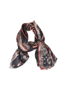 Etro - Paisley print scarf in black and red