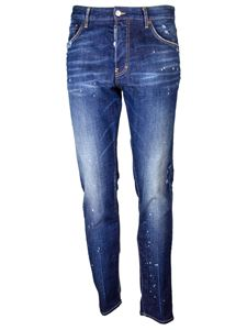 Dsquared2 - Cool Guy white spots Jeans in blue