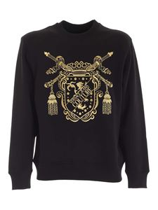 Versace Jeans Couture - Maxi logo embroidery sweatshirt in black