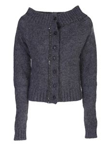 N° 21 - Mohair wool cardigan in grey