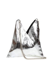 MM6 Maison Margiela - Japanese bag with chain handle in silver