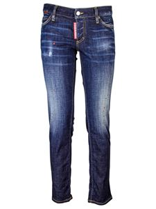 Dsquared2 - Cool Girl jeans with red spots in blue