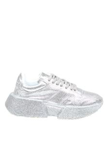 MM6 Maison Margiela - Glittered sneakers in silver