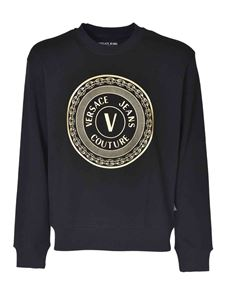 Versace Jeans Couture - Branded crewneck sweatshirt in black