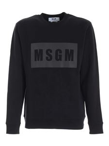 MSGM - Reflective logo print sweatshirt in black
