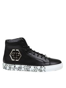 Philipp Plein - Sneakers Hi Top Hexagon Skull nere